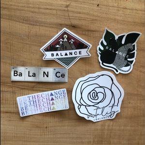 Balance Athletica sticker collection